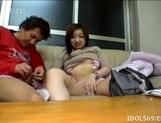 Yuu Japanese AV Model Gives Her Guy A Hot Suck Job picture 15