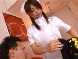 Japanese AV model is a hot nurse in sexy white lingerie