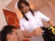 Japanese AV model is a hot nurse in sexy white lingerie