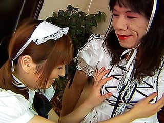 Lovely Asian Model Is Dressed As A Maid For Kinky Sex