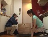Seductive housewife Maki Hokujo loves sex