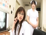 Rika Nagasawa and Mao Sakurai Naughty Asian nurses give hot blowjobs