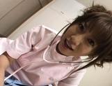 Aki Yatoh Lovely Asian nurse enjoys her work