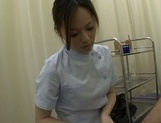 Insatiable Japanese mature nurse gives a passionate blowjob