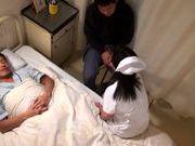 Sweet mature nurse gets seduced into fucking hard