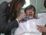 Kinky Asian office ladies tease their horny colleague share hos cock picture 12