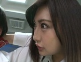 Kinky Asian office ladies tease their horny colleague share hos cock picture 15