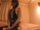 Gorgeous Asian race queen Seira Matsuoka gives a blowjob on pov picture 11