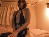Gorgeous Asian race queen Seira Matsuoka gives a blowjob on pov