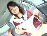 Mikako Abe gets horny while riding in the car picture 12
