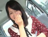 Mikako Abe gets horny while riding in the car picture 14