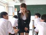 Hot MILF Akari Asahina plays a sexy teacher in a hot action