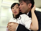 Japanese nurse sucks cock before having her pussy ravished picture 12