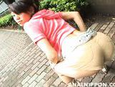 Hot babe with tight butt Ai Nakatsuki gets her anal and pussy drilled