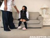 KInky schoolgirl with hairy pussy Tsumiki Shindou enjoys anal insertion