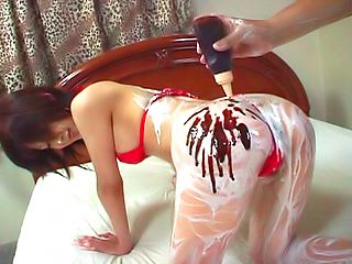 Glorious model Mai Yamasaki gets her body creamed and anal fucked
