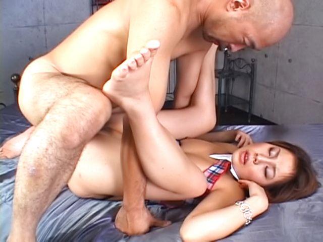 Glorious Japanese seductress Haruka Aizawa in hot Asian anal sex