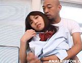 Talented schoolgirl Ibuki is eager to get vig cock in her anal gape picture 11