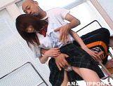 Talented schoolgirl Ibuki is eager to get vig cock in her anal gape