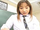 Sex appeal Asian schoolgirl Emi Takanishi in Japanese anal porn