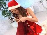 Asahi Miura Hot Asian Santa's Helper Gives Excellent Head