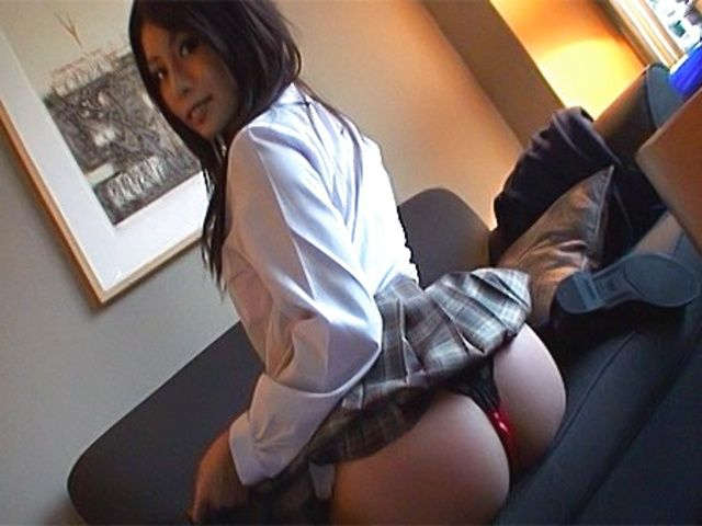 Aya Hirai Hot Asian schoogirl who enjoys showing off her great ass