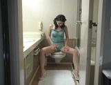 Maria Ozawa Naughty Asian chick masturbates in the bathroom