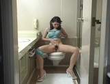 Maria Ozawa Naughty Asian chick masturbates in the bathroom picture 3