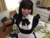 Nice teen chick in sext maid outfit fucking like mad