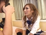 Miwa Yoshida Naughty Asian Model Likes Giving Blow Jobs picture 10