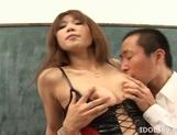Ai Kurosawa Lovely Asian model who enjoys showing off in lingerie