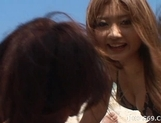 Shiho Kano Asian model and friends enjoy a fucking on the beach picture 11