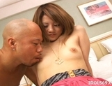 Risa Tsukino Lovely Asian Girl Enjoys A Threesome