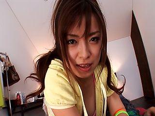 Rei Aoi Naughty Asian model sucks and fucks