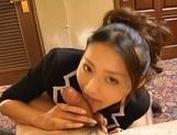 Risa Murakmi Asian Maid Enjoys Sucking Cock picture 11