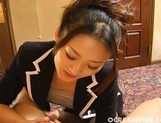 Risa Murakmi Asian Maid Enjoys Sucking Cock