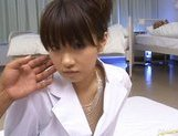 Akane Ohzora Asian model gets hot gangbang anal action picture 1