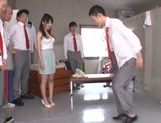 Beautiful Asian stunner Arisa Misato enjoys a kinky group play picture 13