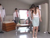 Beautiful Asian stunner Arisa Misato enjoys a kinky group play picture 14