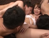 Hardcore princess Yuu Asakura has cum on her hooters
