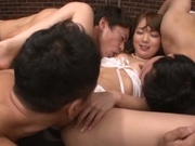 Hardcore princess Yuu Asakura has cum on her hooters