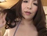 Fantastic Asian mature babe Aoi Aoyama gives a footjob and sucks on pov picture 8
