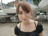 Sexy Asian milf Akiho Yoshizawa is fucked on the boat