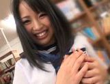 Lustful Japanese teen girl enjoys hardcore pussy fucking picture 11