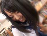 Lustful Japanese teen girl enjoys hardcore pussy fucking picture 13