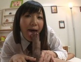 Tasty dick for perky tits Japanese college chick