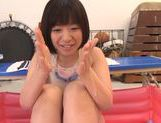 Wakaba Onoue hot Asian teen in wet clothes gets clit tickled