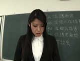 Skillful mature teachers arrange hand work at a meeting
