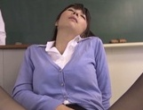 Nasty gang bang with busty teacher Kimika Ichijou picture 8