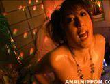 Charming Asian cutie Nagisa Uematsu rubs anal and pussy and sucks rod